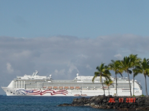 NCL, Pride of America, Kona, Hawaii
