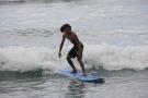 Surfing White Plains Beach, Barbers Point , Oahu