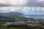 Pali Lookout view of Kaneohe