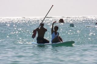 Paddle board ride, Hale Koa, Waikiki