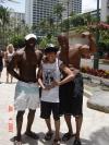 Musclemen, Honolulu, Hawaii, Waikiki Beach