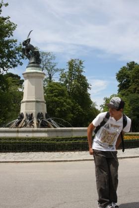 Statue of the Fallen Angel, Parque de Retiro, Madrid, Spain