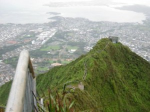 The Haʻikū Stairs, the Stairway to Heaven, Haʻikū Ladder, Oahu