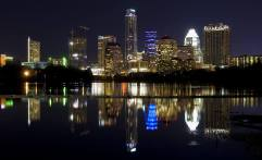 Night time in Austin