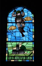 tained Glass at Angoville au Plain church