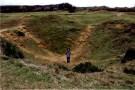 2000 pound bomb crater, Pointe du Hoc