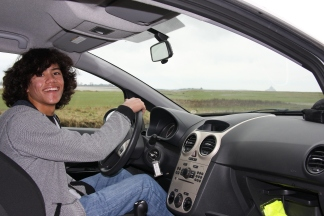 Learning to drive stick shift in Normandy