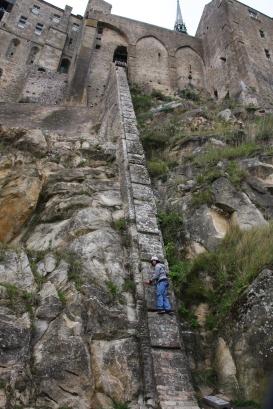 Climbing Le Mont St. Michel