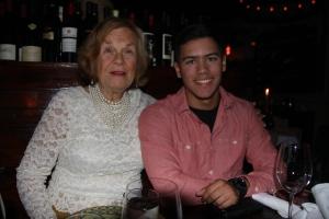 Grandma and Devan at Vine Restaurant